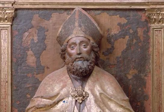 Sculpture of St. Nicholas from Castello D'Aviano, Italy. Photo Credit: Elio Ciol/CORBIS