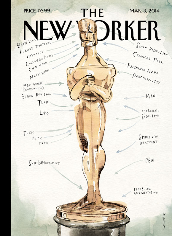 "BARRY BLITT'S ""Ready For His Closeup"" The New Yorker Magazine, Mar 3, 2014"