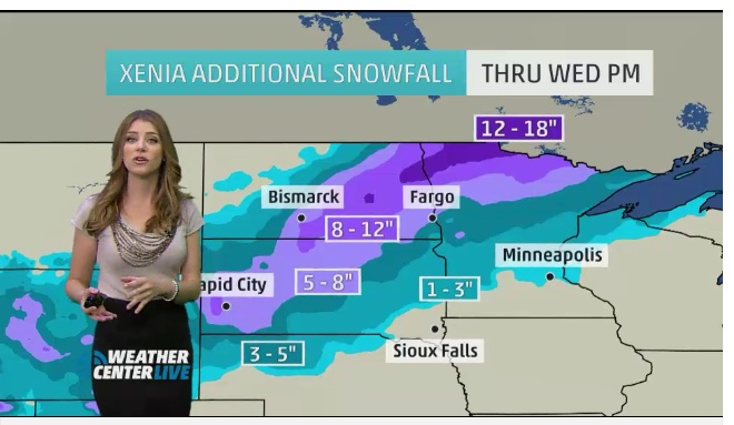 Winter Storm Xenia Forecast- Blizzard Striking North Dakota, South Dakota, Minnesota - weather.com Winter Storm Xenia Brings Str