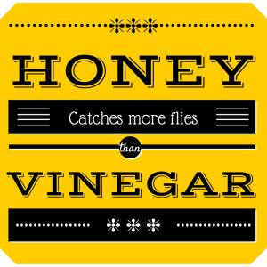 Honey catches more flies (1)