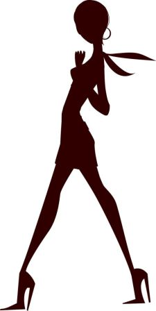 Tall Woman in Silhouette